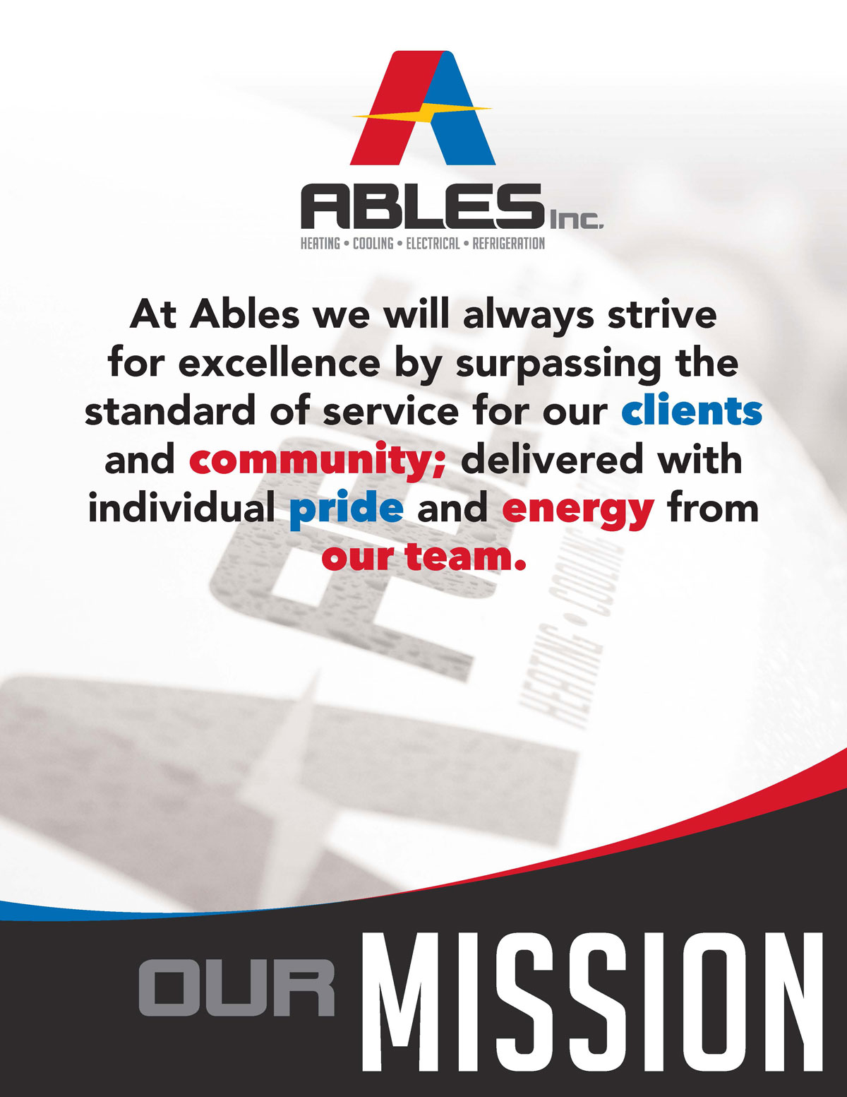 Ables Inc Mission Vision Values 1